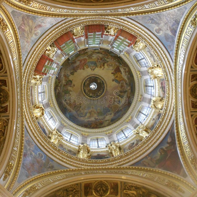 Great Dome of Saint Issac`s Cathedral stock photos