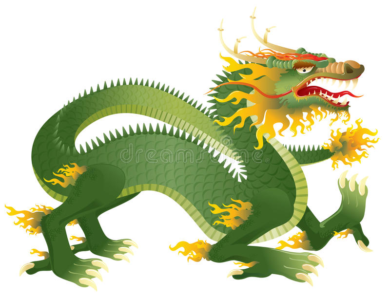 Download Great Dragon stock vector. Illustration of decorative - 14332167