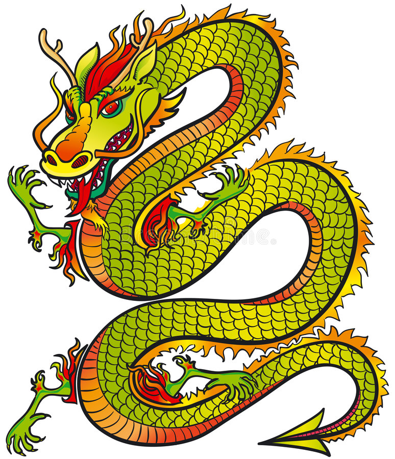 Download Great Dragon color stock vector. Image of chinese, dangerous - 4823973