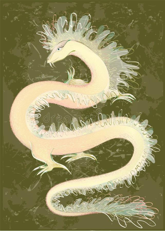 Download Great Dragon Color. Illustration Of The Chinese Dr Stock Vector - Image: 20695977