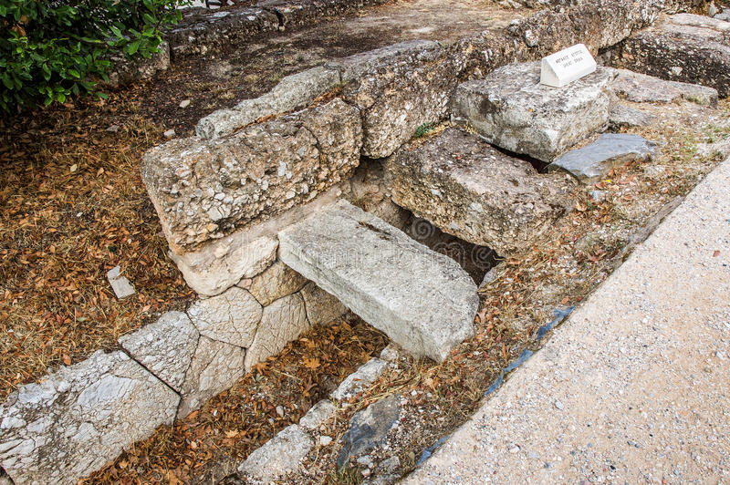 Download Great Drain In Agora, Athens Stock Image - Image: 37183169