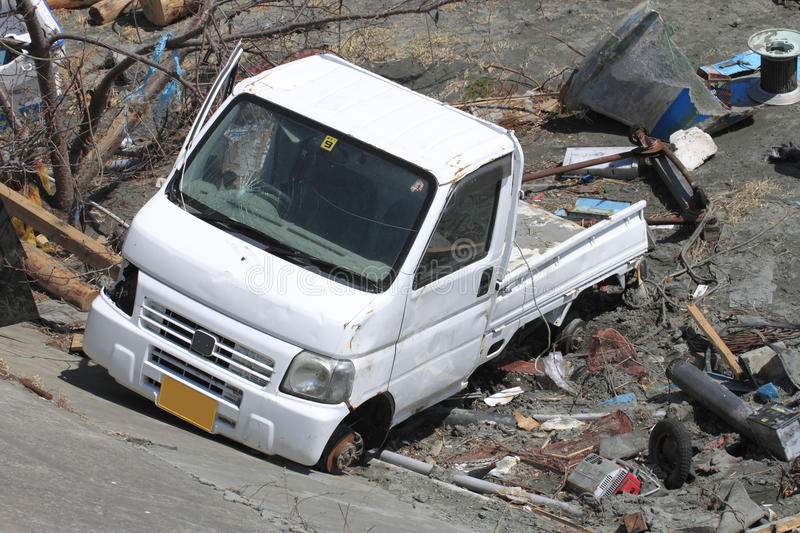 The Great East Japan Earthquake royalty free stock photography