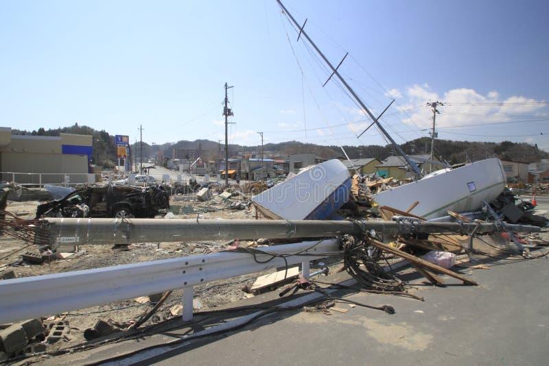 The Great East Japan Earthquake stock photos