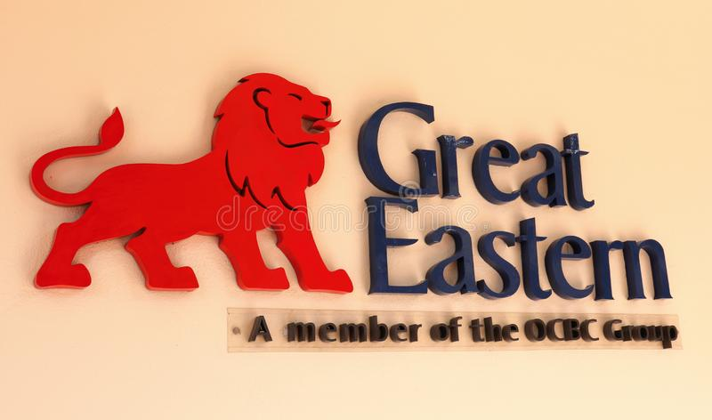 Great Eastern Life Assurance Sign And Logo. The Great Eastern Life Assurance corporate sign and logo for Singapore and Malaysia. Note that the features on the stock image