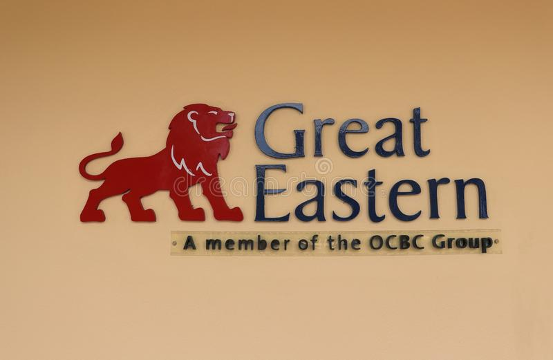 Great Eastern Life Assurance Sign And Logo. The Great Eastern Life Assurance corporate sign and logo for Singapore and Malaysia. Note that the features on the stock photography