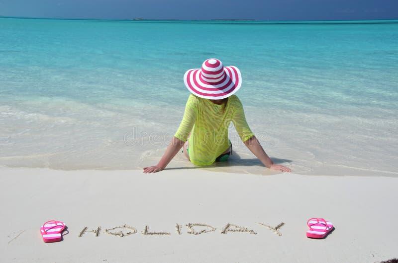 Great Exuma, Bahamas. Beach scene, Great Exuma, Bahamas royalty free stock photography