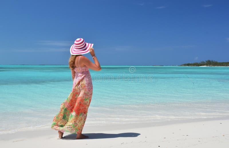 Great Exuma, Bahamas. Beach scene, Great Exuma, Bahamas royalty free stock photos