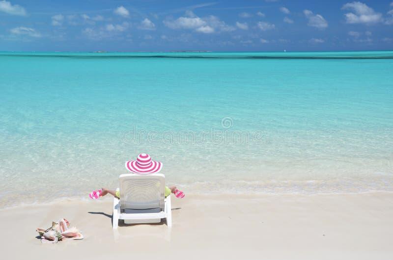 Great Exuma, Bahamas. Beach scene. Great Exuma, Bahamas stock photo