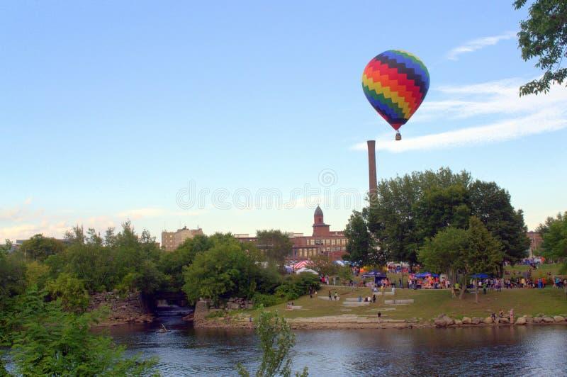 Great Falls Balloon Festival, Lewiston Auburn Maine royalty free stock image