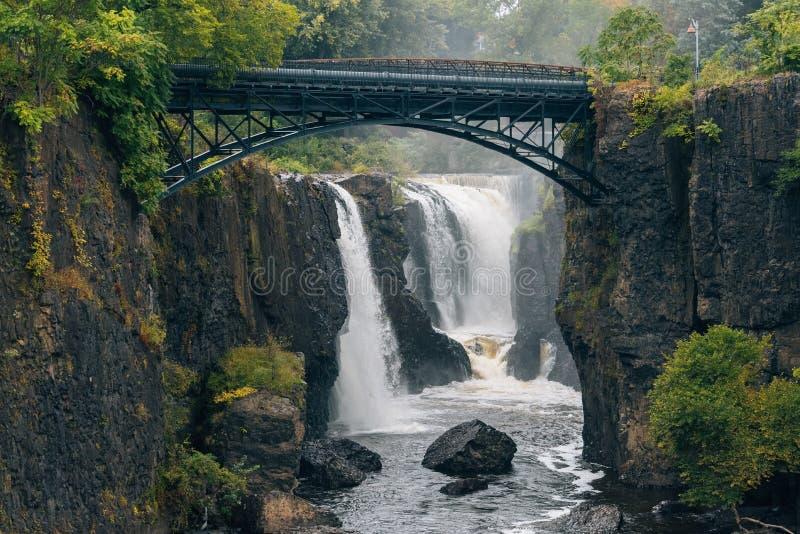 Great Falls de la rivière de Passaic en Paterson, New Jersey images libres de droits