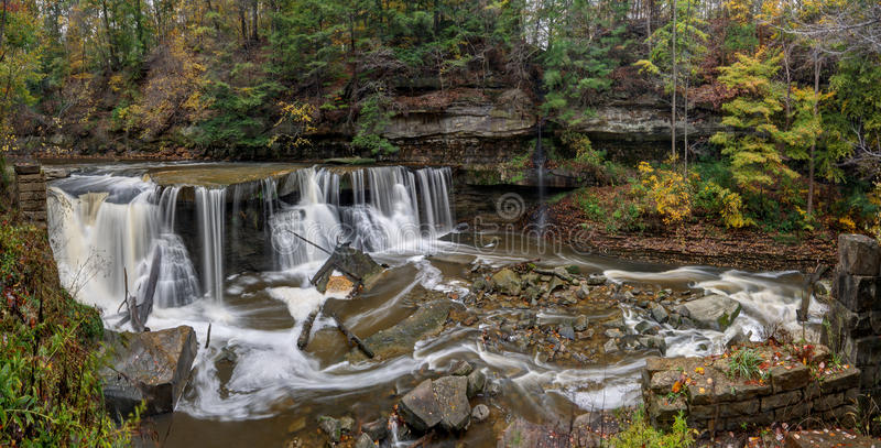 Great Falls do desfiladeiro da angra do ` s do funileiro imagens de stock