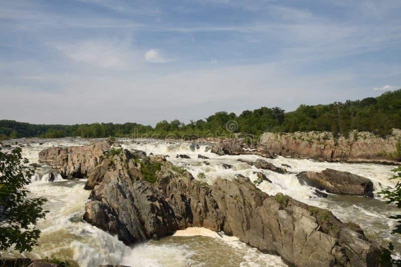 Great Falls do Rio Potomac fotos de stock