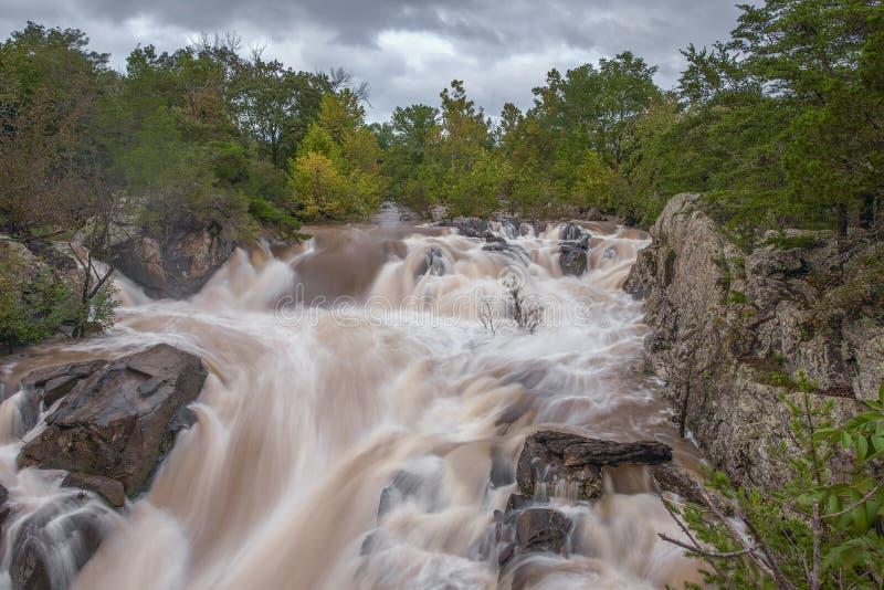 Great Falls do Rio Potomac imagem de stock royalty free