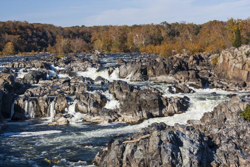 Great Falls in Herbst II stockfotos