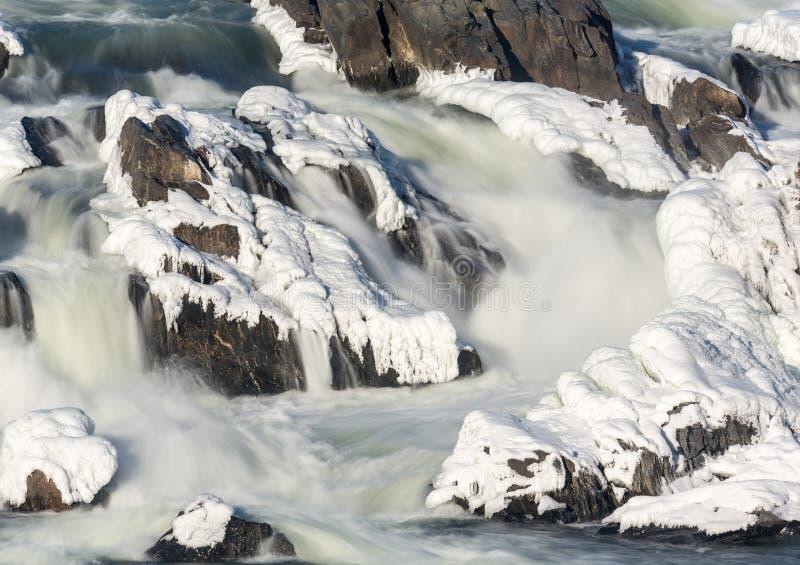 Great Falls na Potomac na zewnątrz washington dc obrazy stock