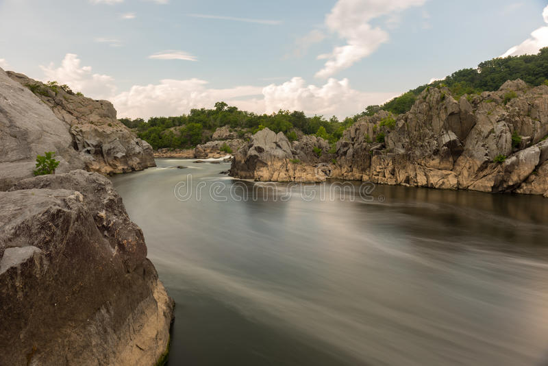 Great Falls Park. In Virginia, United States. It is along the banks of the Potomac River in Northern Fairfax County stock images