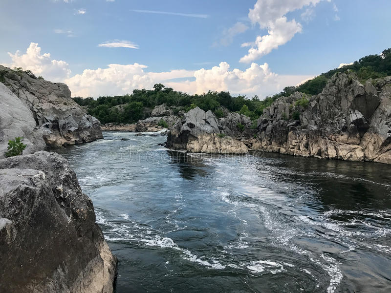 Great Falls Park. In Virginia, United States. It is along the banks of the Potomac River in Northern Fairfax County royalty free stock image