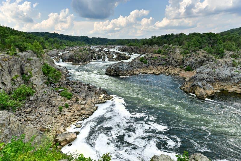 Great Falls Park royalty free stock photos