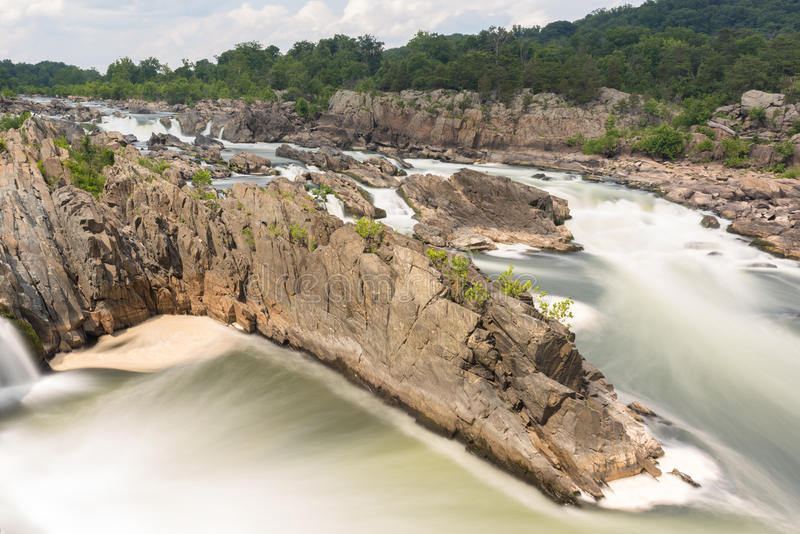 Great Falls Park. In Virginia, United States. It is along the banks of the Potomac River in Northern Fairfax County royalty free stock photos