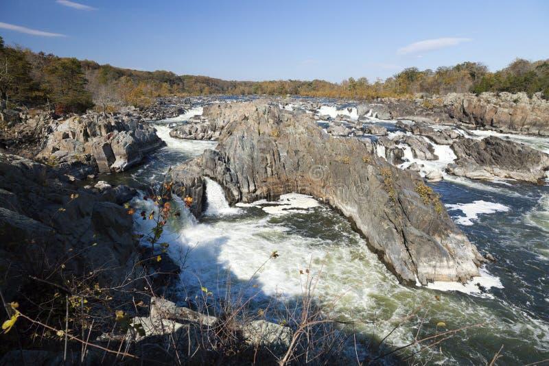 Great Falls park, Virginia, usa fotografia stock