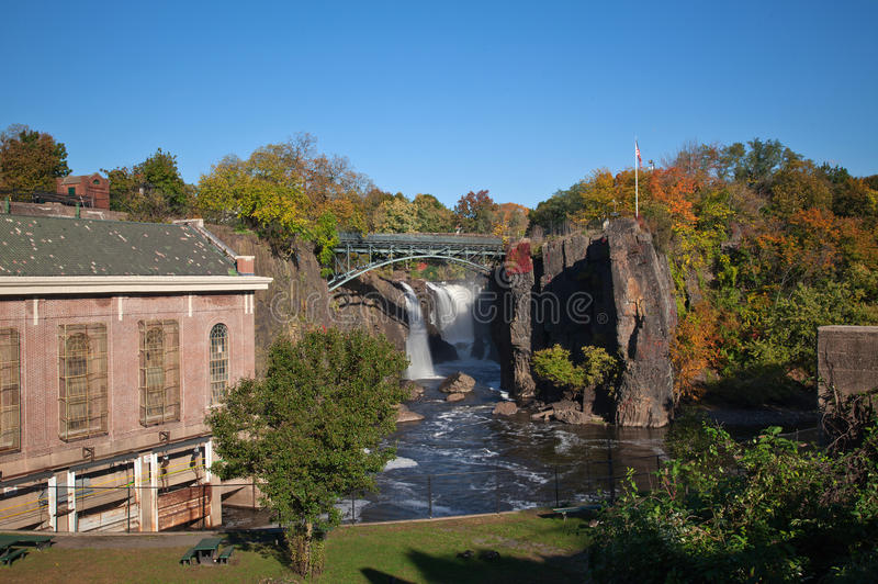 The Great Falls in Paterson, NJ royalty free stock photography