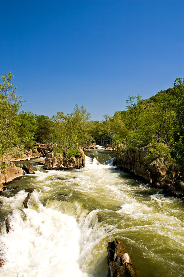 Great Falls on Potomac River royalty free stock photography