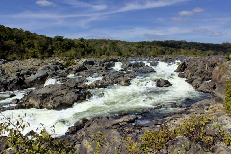 Great Falls of the Potomac River. Main fails of the Great Falls of the Potomac River stock image