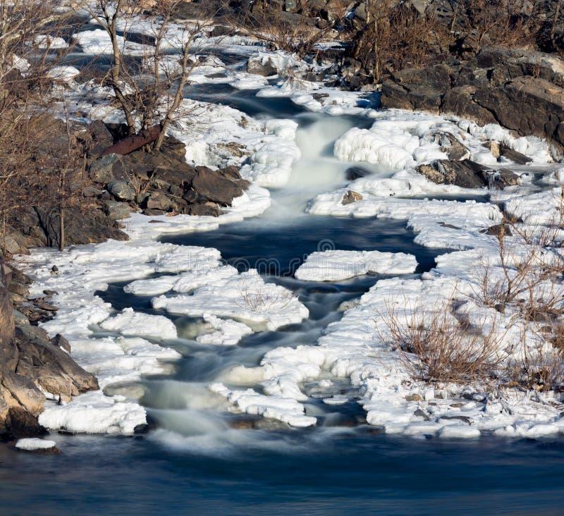 Great Falls sur Potomac en dehors de Washington DC images stock