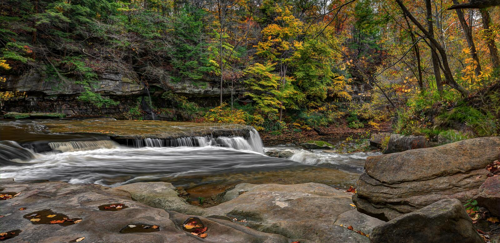 Great Falls of Tinker`s Creek Gorge royalty free stock photography