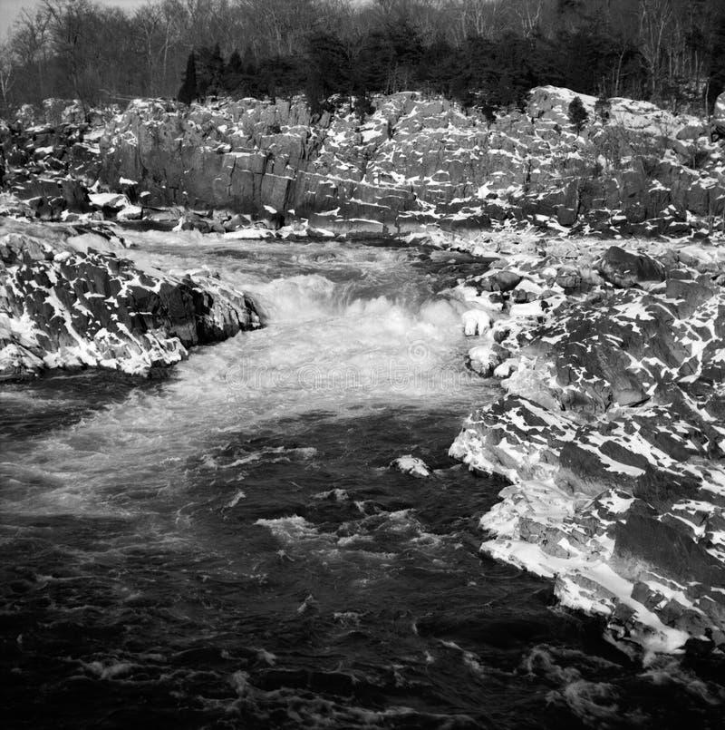 Great Falls Virginia Podczas zimy fotografia royalty free