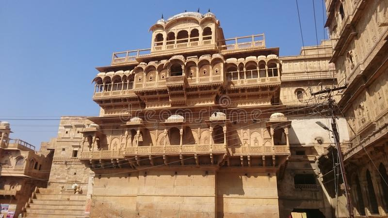 Great and famous fort in jaisalmer rajasthan royalty free stock image