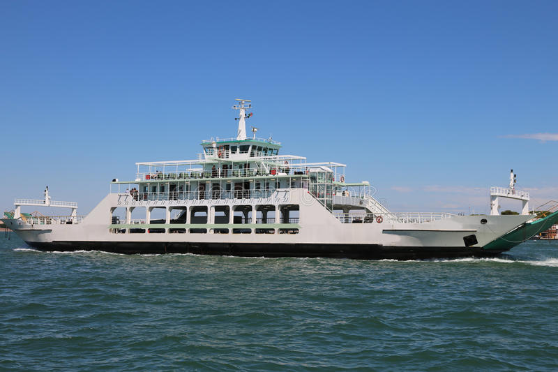 Great ferry boat for the carriage of cars royalty free stock image