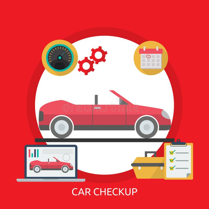 Car Checkup Conceptual Design vector illustration