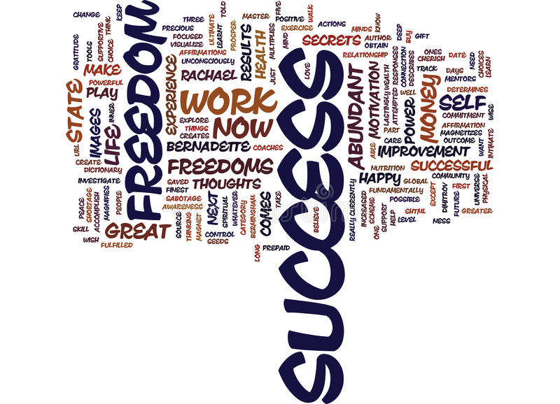 Great Freedoms Of Success Word Cloud Concept vector illustration