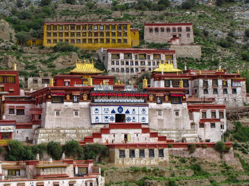 The great Ganden monastery, Tibet, China stock images