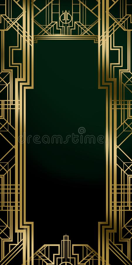 Great Gatsby Movie Inspiration Film Backdrop Background Poster royalty free illustration