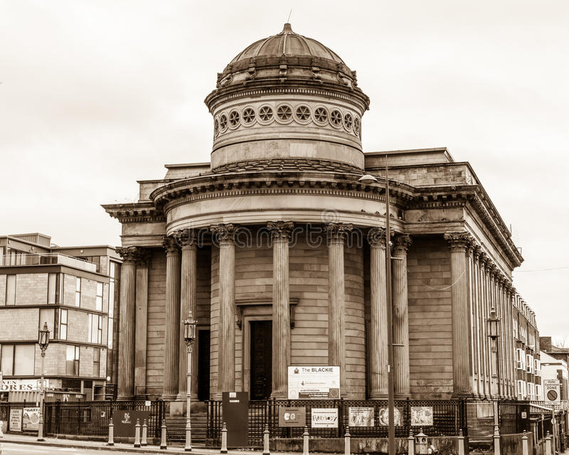Great George Street Congregational Church, The Black-E community. ENGLAND, LIVERPOOL - 15 NOV 2015: Great George Street Congregational Church, The Black-E royalty free stock photos