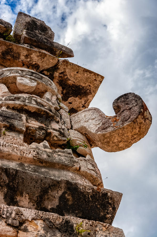 The Great God Chac at the Nunnery in Chichen Itza royalty free stock photos