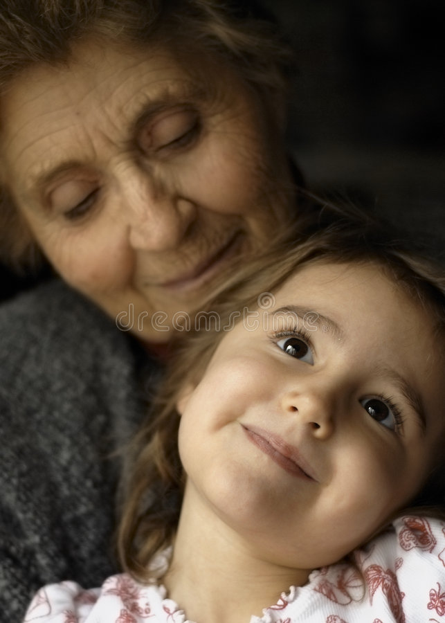 Great-grandmother royalty free stock image