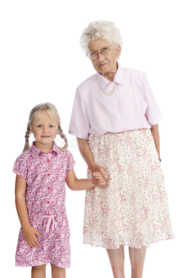 Great Grandmother And Grandchild Stock Photo