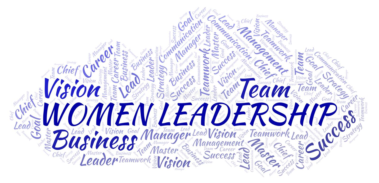 Women Leadership word cloud stock illustration