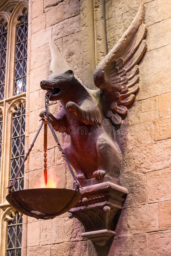 The Great Hall in the Warner Brothers Studio tour 'The making of Harry Potter' in London, Uk stock image