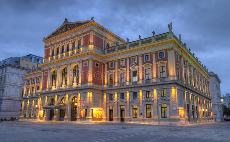 Great Hall of Wiener Musikverein, Vienna, Austria, HDR stock photography