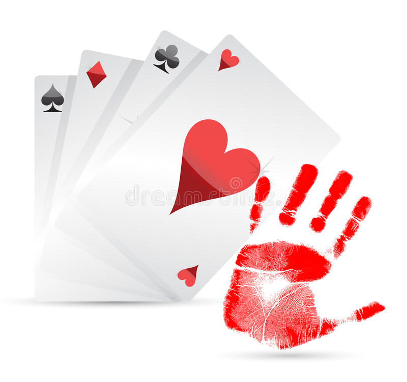 Great Hand Playing Cards Concept Royalty Free Stock Photo