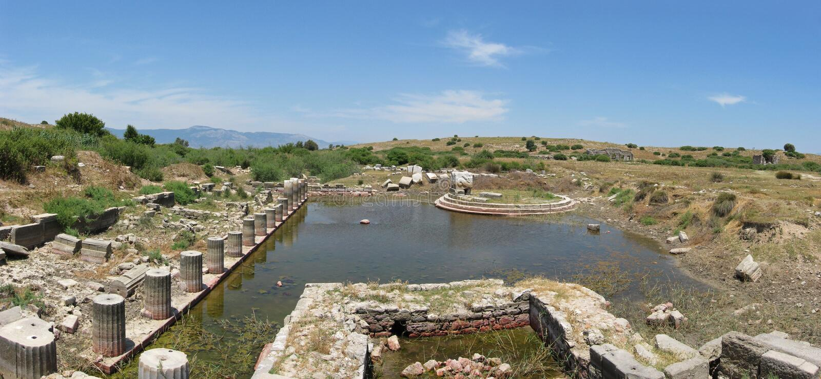 Great Harbour Monument in Miletus stock photo