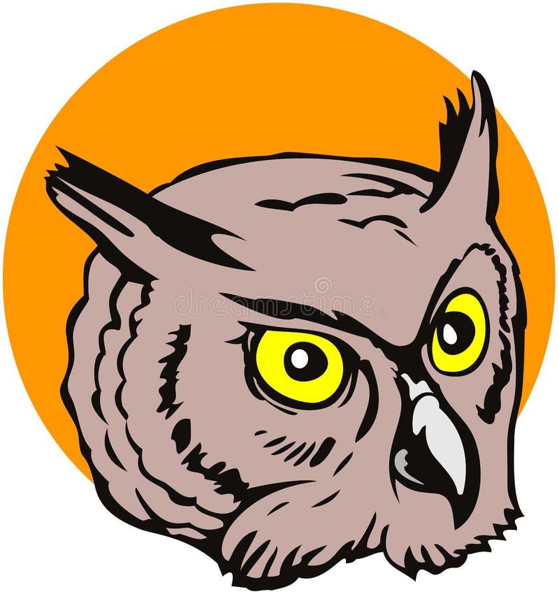 Download Great Horned owl stock vector. Illustration of raptor - 4349056