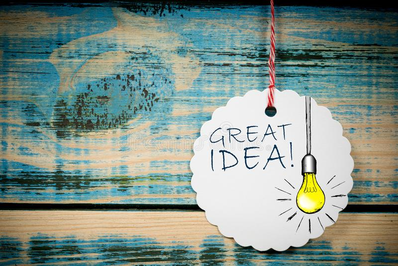 Great idea design royalty free stock photography