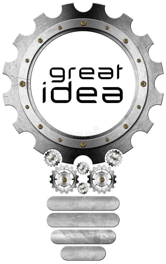 Great Idea - Light Bulb and Gears vector illustration