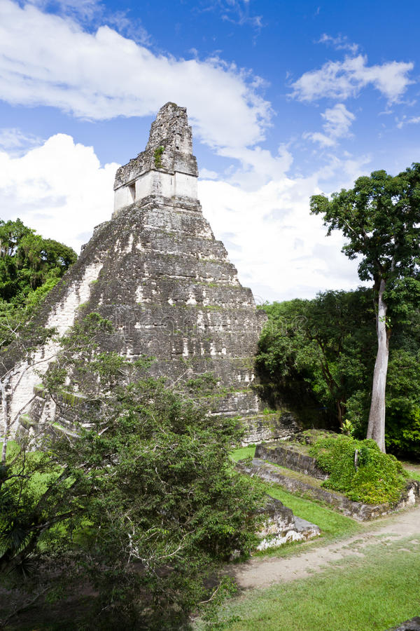 Great Jaguar Temple, Tikal, Guatemala Stock Photo - Image ...