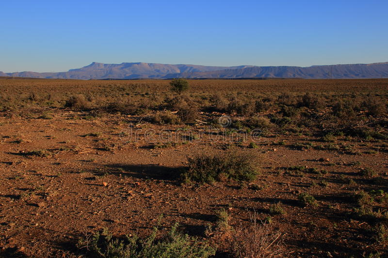 Great Karoo landscape South Africa. Landscape of the Great Karoo natural region in the Western Cape of South Africa stock images